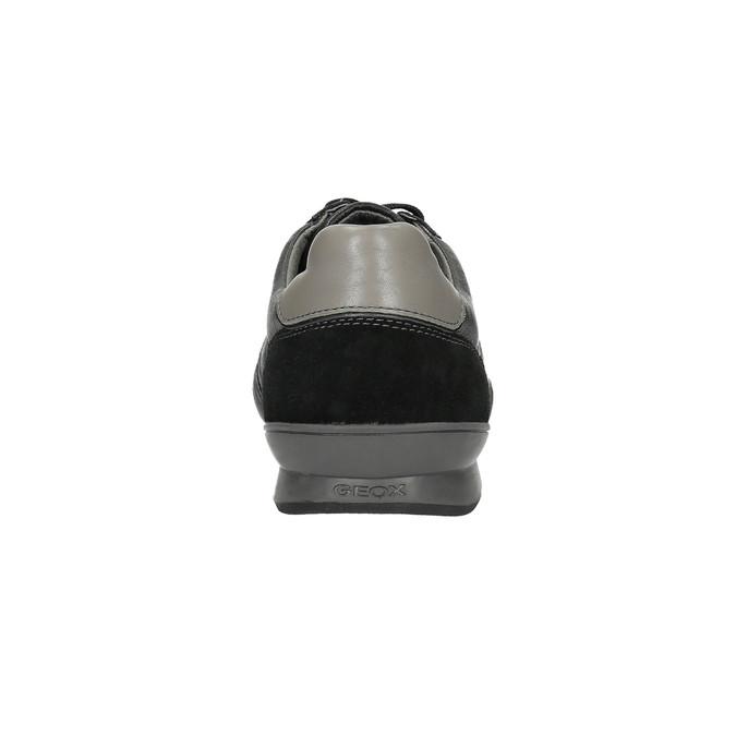 Kožené tenisky s prodyšnou podešví geox, černá, 824-6037 - 17