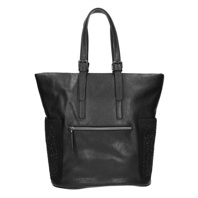 Dámská černá kabelka s kamínky bata, černá, 961-6118 - 26