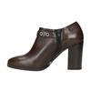 Kožené polobotky na širokém podpatku bata, hnědá, 794-4636 - 26