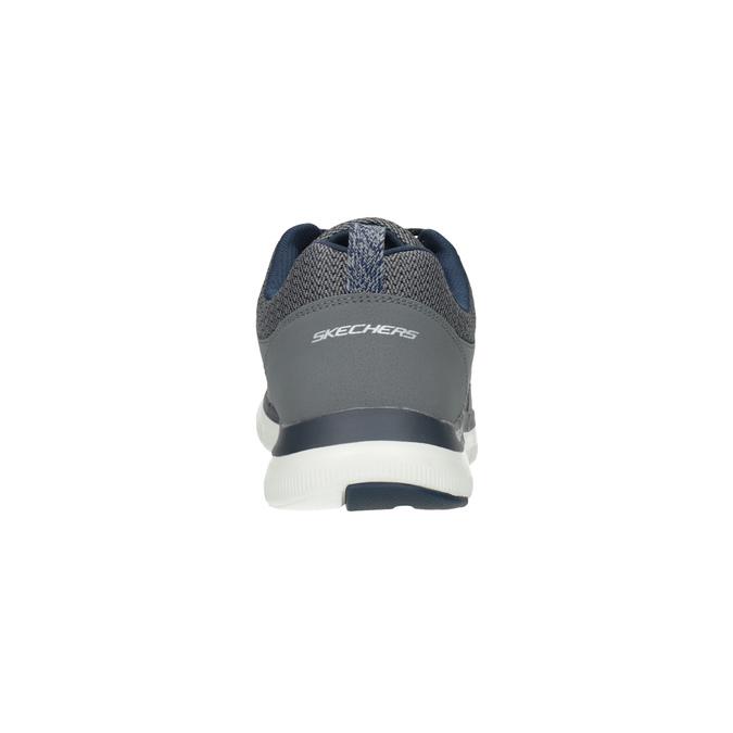Pánské sportovní tenisky šedé skechers, šedá, 809-2349 - 17