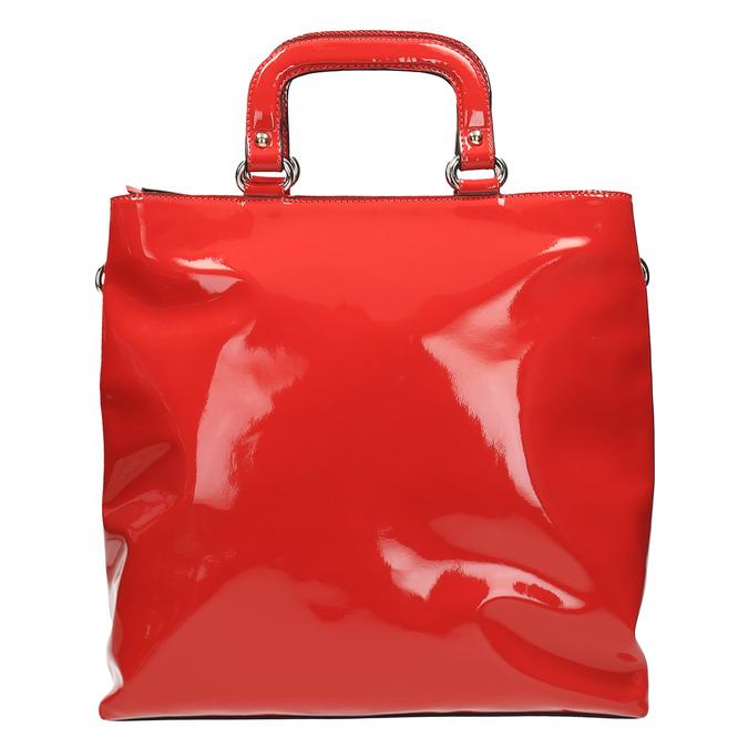 Červená dámská kabelka do ruky bata, červená, 961-5606 - 19