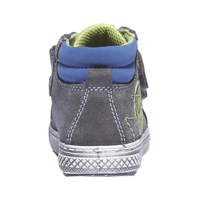 Dětské kožené tenisky mini-b, šedá, 113-2101 - 17