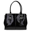 Černá kabelka v lakované úpravě bata, černá, 961-6619 - 19