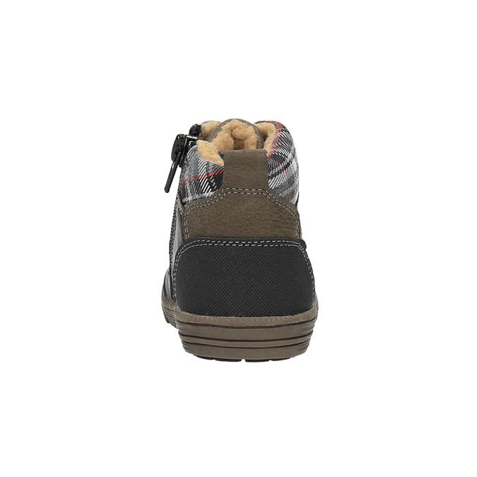 Dětská kotníčková obuv bubblegummer, hnědá, 191-6613 - 17