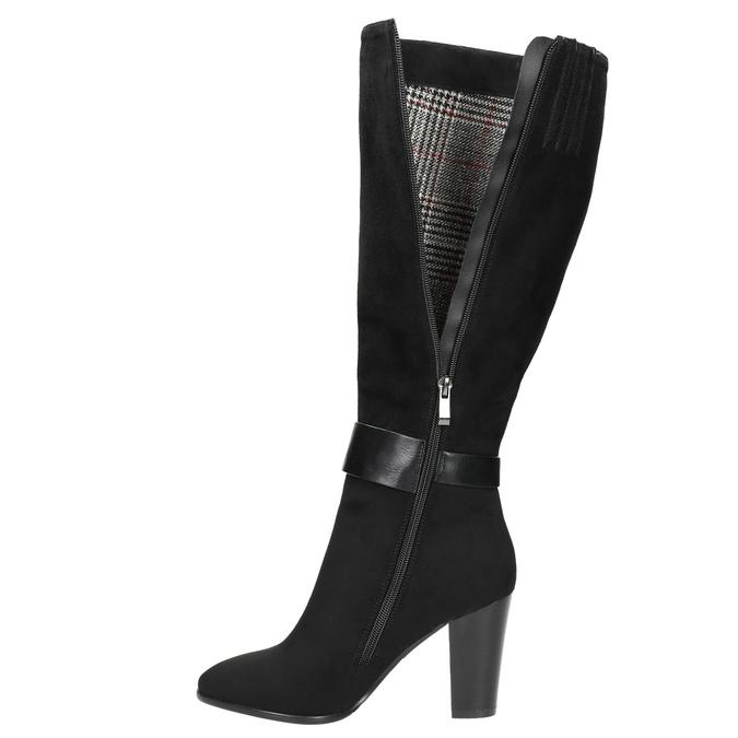 Dámské kozačky na podpatku bata, černá, 699-6631 - 26