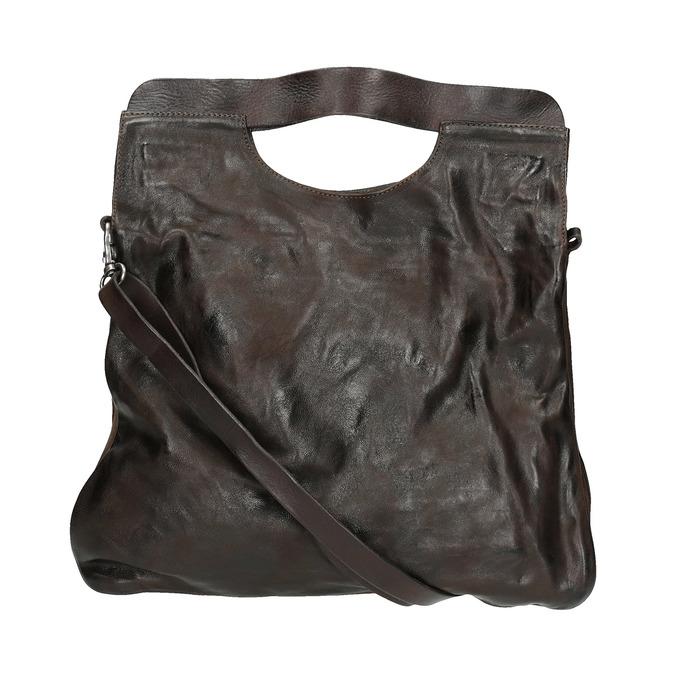 Dámská kožená kabelka do ruky a-s-98, hnědá, 966-4008 - 19