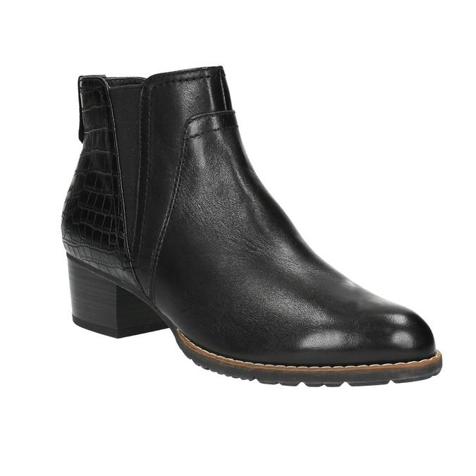 Dámská kotníčková obuv šíře H bata, černá, 696-6616 - 13