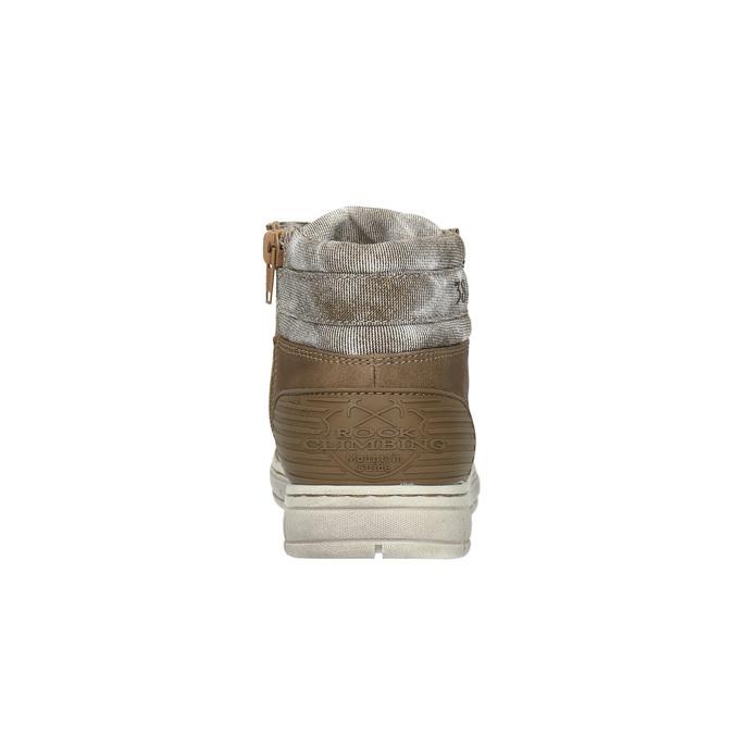 Chlapecké kotníčkové tenisky mini-b, hnědá, 391-4600 - 17