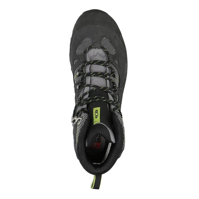 Kožená kotníčková obuv v outdoor stylu salomon, černá, 843-7052 - 19