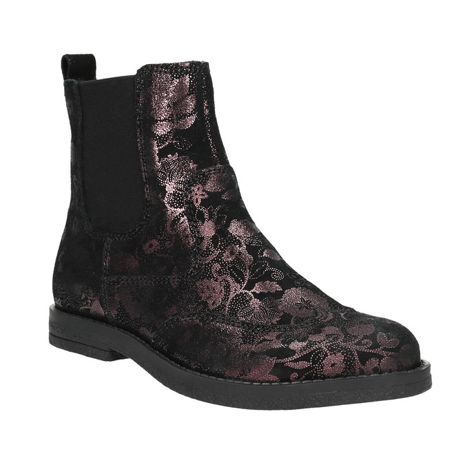 Kožená dětská chelsea obuv richter, fialová, 396-5013 - 13