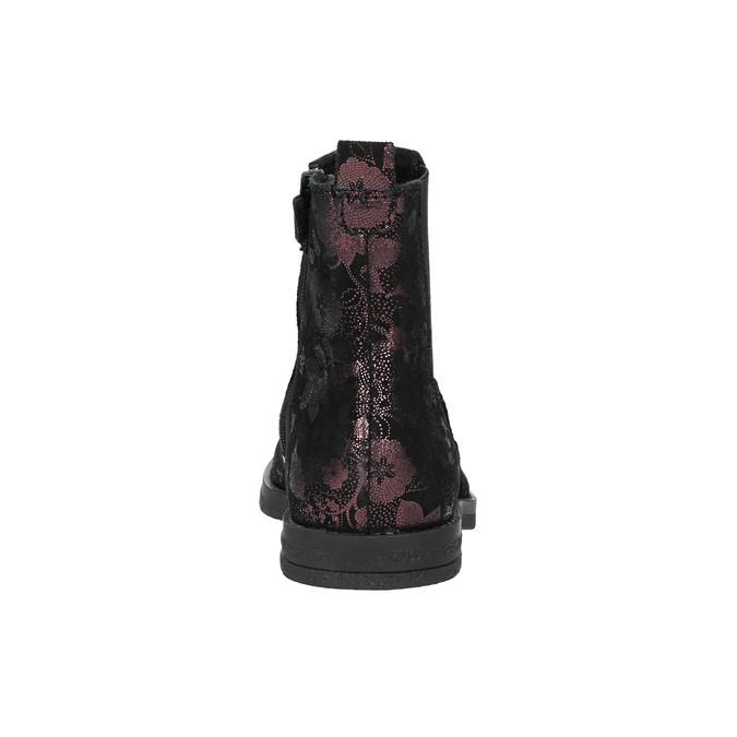 Kožená dětská chelsea obuv richter, fialová, 396-5013 - 17
