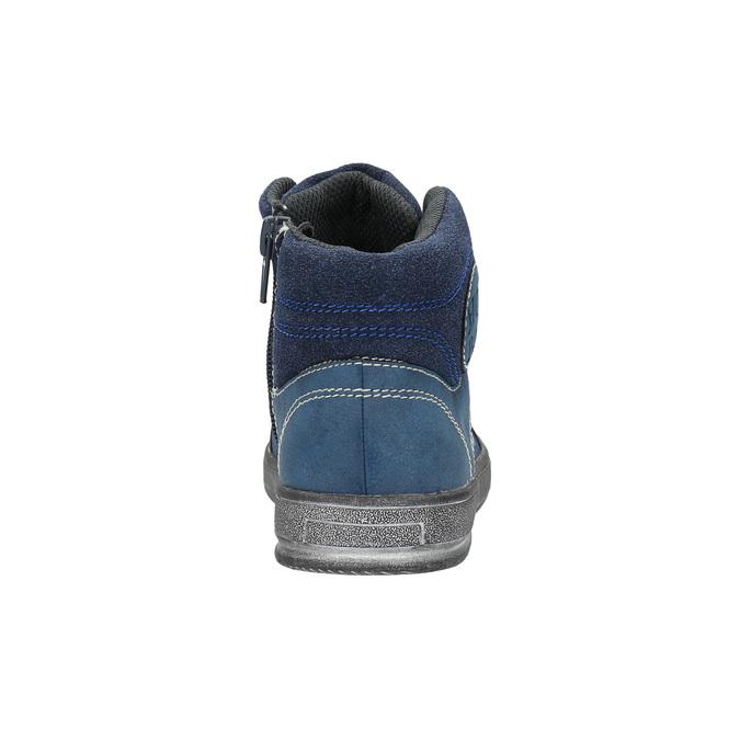 Dětské kotníčkové tenisky modré mini-b, modrá, 411-9600 - 17