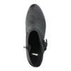 Kožené kotníčkové kozačky ve Western stylu bata, černá, 696-6610 - 19