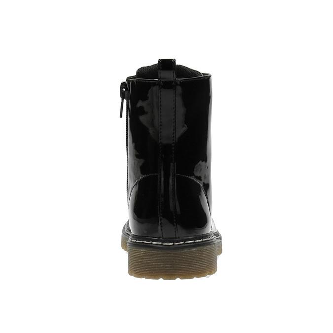 Dívčí kotníčková obuv s růžovým šněrováním mini-b, černá, 321-6600 - 17
