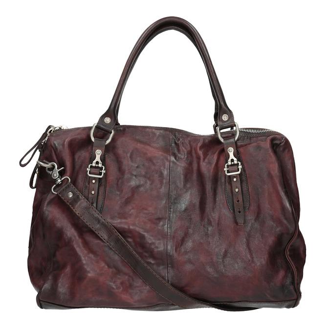 Kožená kabelka s kovovými detaily a-s-98, červená, 966-5020 - 19