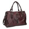 Kožená kabelka s kovovými detaily a-s-98, červená, 966-5020 - 13