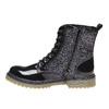 Dětská kotníčková obuv se třpytkami mini-b, černá, 399-6253 - 19