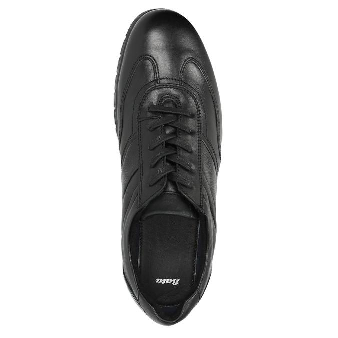 Ležérní kožené polobotky černé bata, černá, 826-6652 - 19