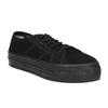 Černé tenisky se širokou podešví bata, černá, 529-6630 - 13