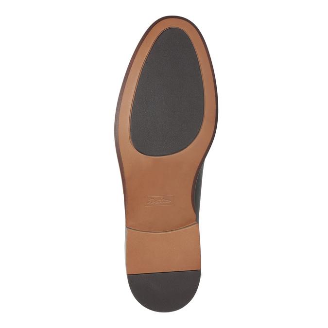 Kožené hnědé polobotky bata, hnědá, 824-4684 - 26