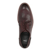 Vínové kožené polobotky bata, červená, 826-5645 - 19