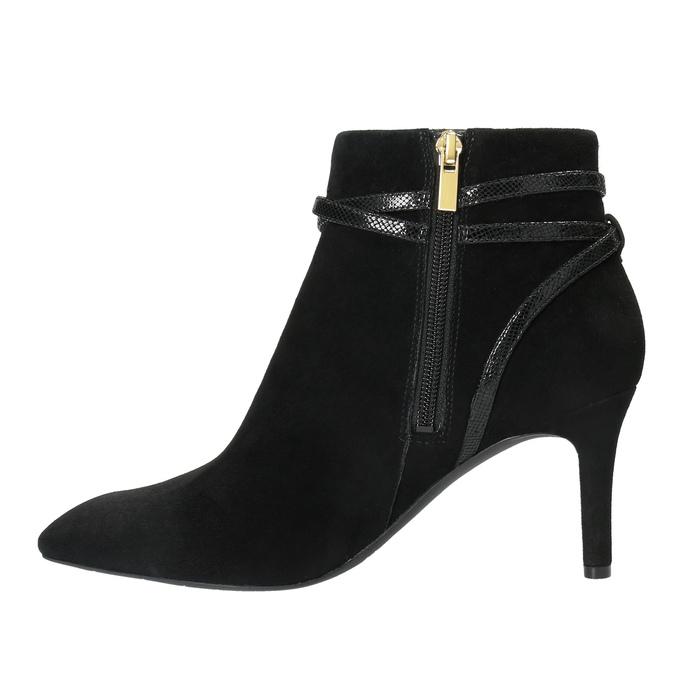 Dámská kotníčková obuv na jehlovém podpatku rockport, černá, 713-6101 - 26