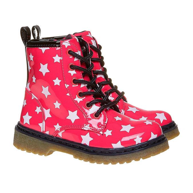 Dětská kotníčková obuv s hvězdičkami mini-b, růžová, 291-5159 - 26