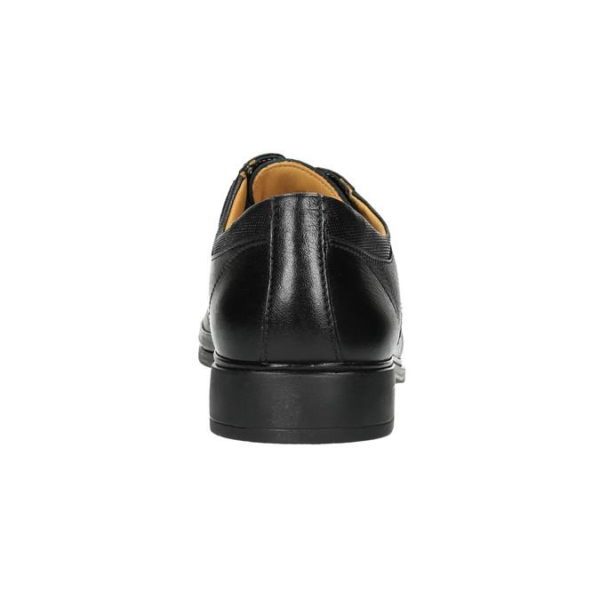 Pánské kožené polobotky comfit, černá, 824-6714 - 17