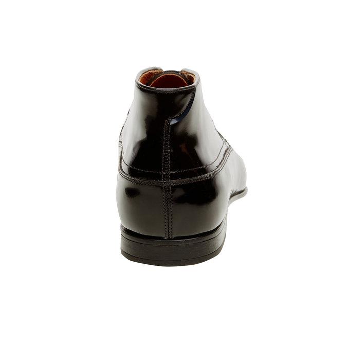 Kotníčkové polobotky z lakované kůže bata, černá, 898-6797 - 17