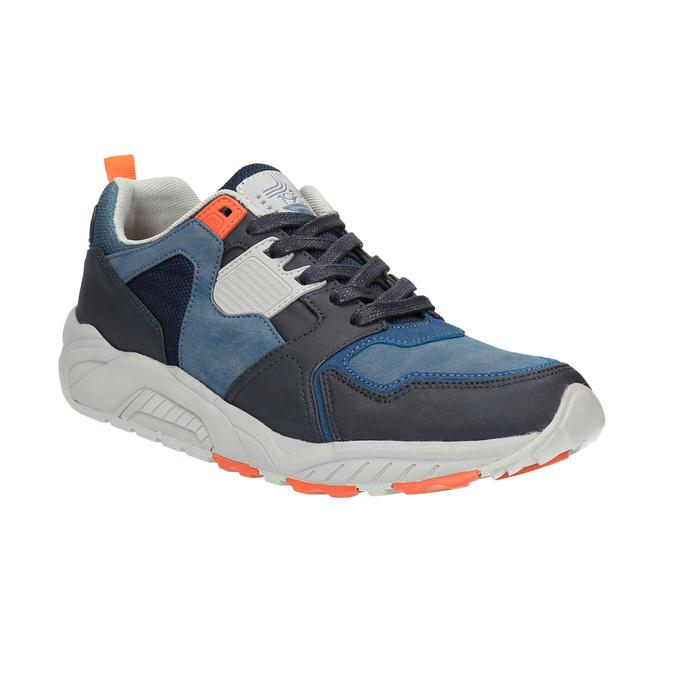 Pánské tenisky na výrazné podešvi bata, modrá, 841-9601 - 13