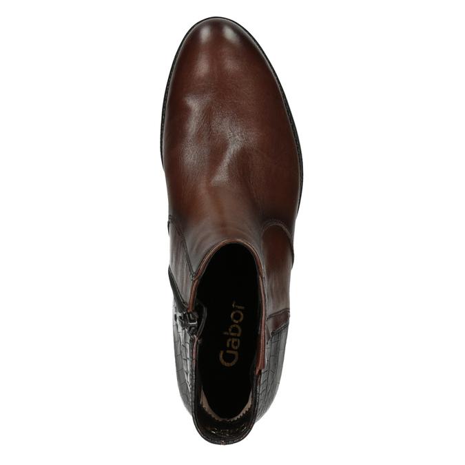 Dámská kotníčková obuv gabor, hnědá, 614-6107 - 19