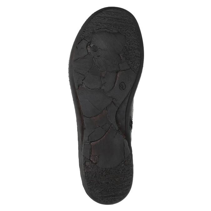 Kožená kotníčková obuv se zateplením bata, černá, 596-6624 - 26