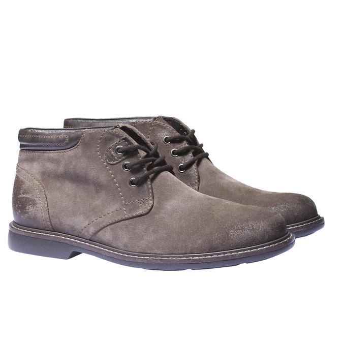 Pánské semišové boty bata, hnědá, 893-4261 - 26