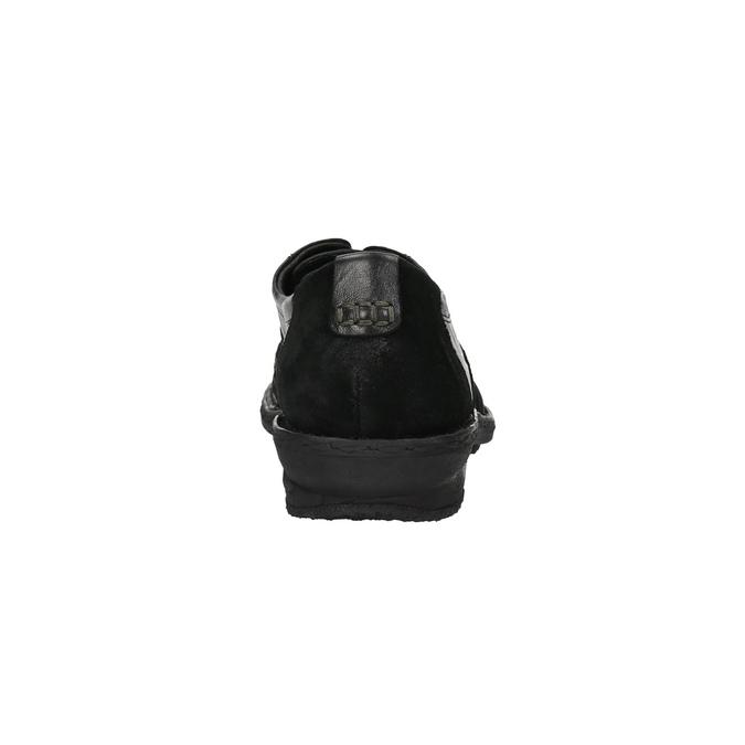 Dámské kožené tenisky bata, černá, 526-6601 - 17