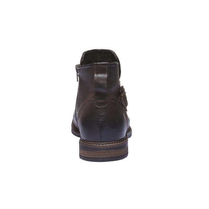Kožená kotníčková obuv bata, hnědá, 894-4107 - 17