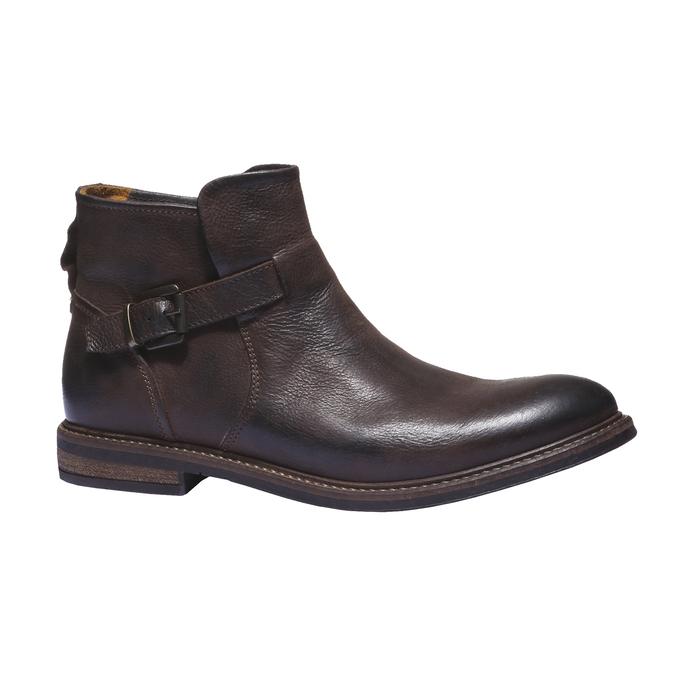 Kožená kotníčková obuv bata, hnědá, 894-4107 - 13