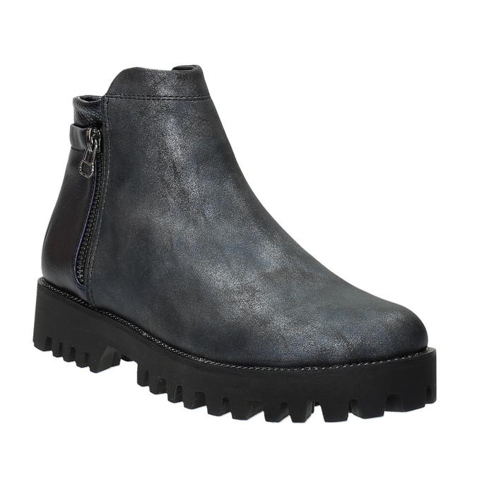 Dámská kotníčková obuv bata, šedá, 591-2615 - 13