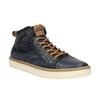Kožené kotníčkové tenisky pánské bata, modrá, 846-9606 - 13