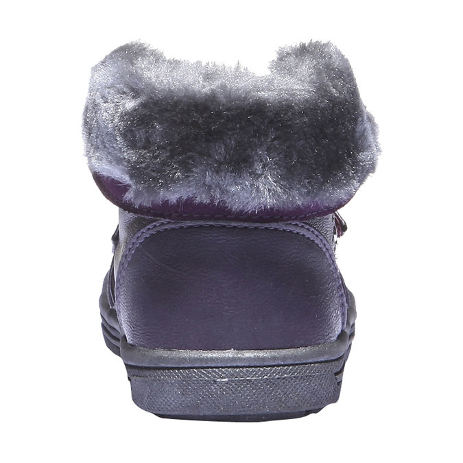 Dětské kotníkové boty s kožešinkou mini-b, fialová, 121-9102 - 17
