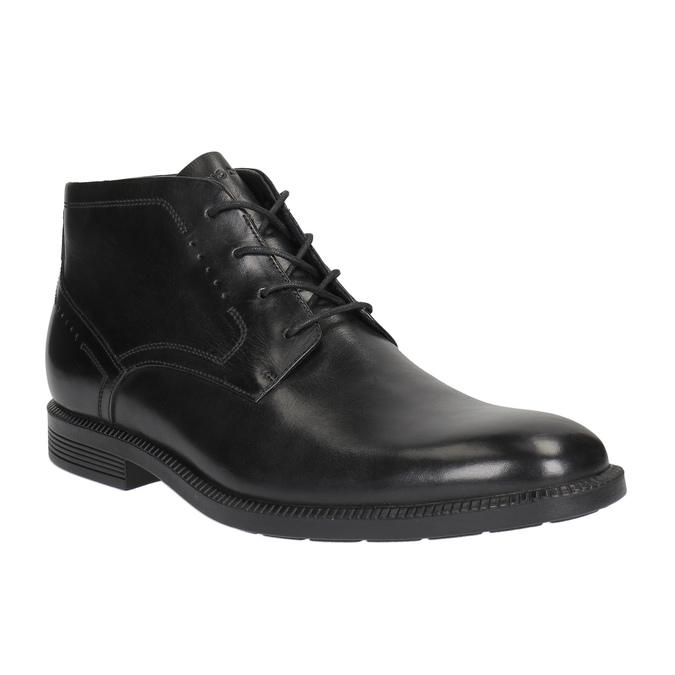 Kožená kotníčková obuv rockport, černá, 824-6025 - 13