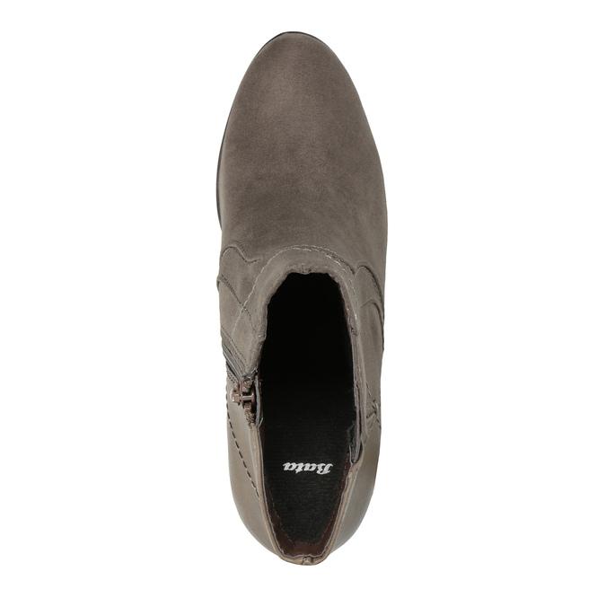 Kotníčková obuv na podpatku bata, šedá, 791-2602 - 19