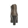Kotníčková obuv na podpatku bata, šedá, 791-2602 - 17