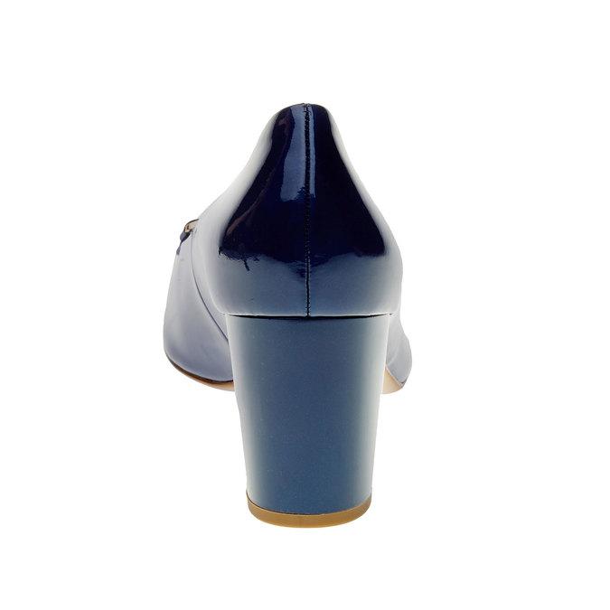 Dámské lakované lodičky hogl, modrá, 728-9001 - 17