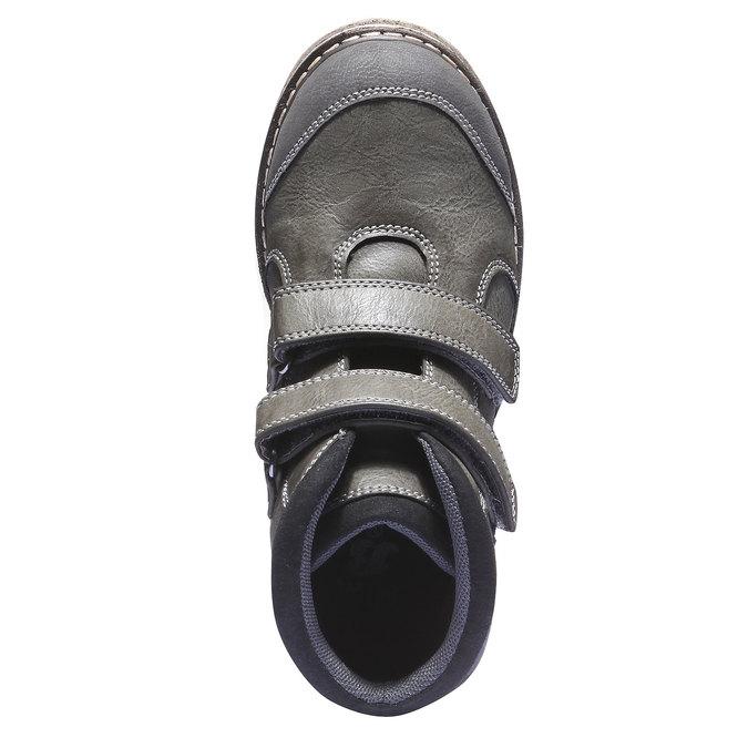 Dětská kotníčková obuv na suché zipy mini-b, šedá, 311-2101 - 19