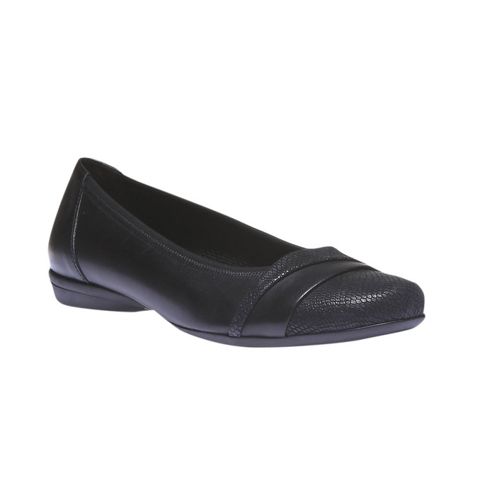 Kožené baleríny gabor, černá, 524-6456 - 13