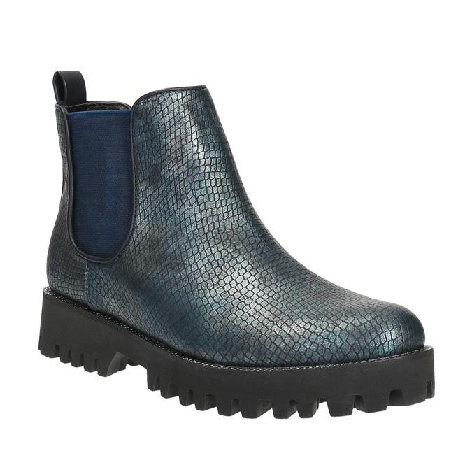 Dámská kotníčková obuv bata, modrá, 591-9616 - 13
