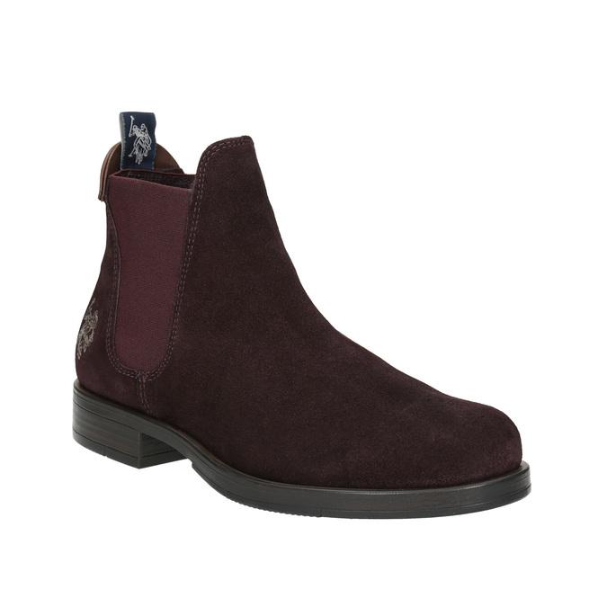Dámská kožená Chelsea obuv u-s-polo-assn-, červená, 513-5070 - 13