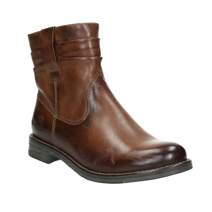 Kožená kotníčková obuv ve Wester stylu bata, hnědá, 594-4611 - 13