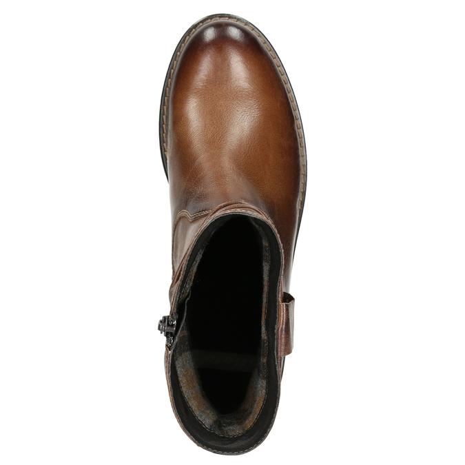 Kožená kotníčková obuv ve Wester stylu bata, hnědá, 594-4611 - 26