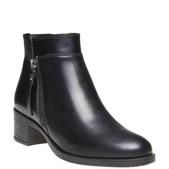 Kožená kotníčková obuv bata, černá, 694-6166 - 13
